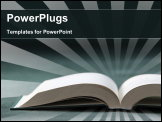 PowerPoint Template - Close up of the Open Book