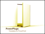 PowerPoint Template - Open door with golden light.