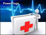 PowerPoint Template - man who opening medic pack, hospital and medic help