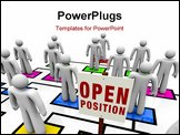 PowerPoint Template - An empty square in an organizational chart with a sign reading Open Position