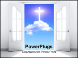 PowerPoint Template - Conceptual image - a way to spirituality