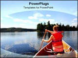 PowerPoint Template - A girl rowing outwards to the unknown.