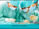 PowerPoint Template - A medical team performing an operation in a hospital