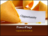 PowerPoint Template - Opportunity fortune cookie close up on white background
