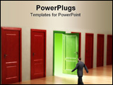 PowerPoint Template - Opportunity knocks. Subtle conceptual metaphor.