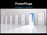 PowerPoint Template - cg image of a hall of doors