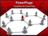 PowerPoint Template - a business team organization network diagram image
