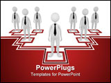PowerPoint Template - oncept, depicting employees at different tiers; great for business and organization structure conce