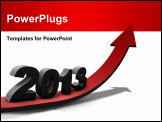 PowerPoint Template - Positive and prosperous outlook on year 2013.