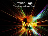 PowerPoint Template - techno backgrund: www on an exploding world