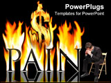 PowerPoint Template - A symbol of what pain might feel like