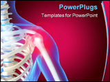 PowerPoint Template - 3d rendered anatomy illustration of a human shoulder with pain