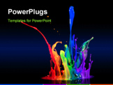 PowerPoint Template - Paint spraying off of a black surface