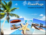 PowerPoint Template - palm and beach