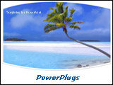 PowerPoint Template - Palm tree on a beautiful tropical beach over white background