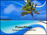 PowerPoint Template - Bending Palm in the Cook Islands