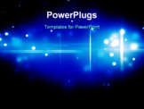 PowerPoint Template - Blue glowing particles