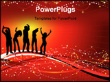 PowerPoint Template - silhouettes of people dancing