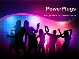 PowerPoint Template - Party People Background - Vector dancing young people.