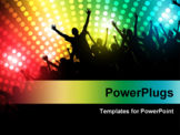 PowerPoint Template - Party People Vector Background - Dancing Young People