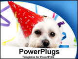 PowerPoint Template - Puppy tired after partying