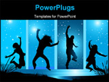 PowerPoint Template - Happy people reaching for the stars! See my gallery for more.