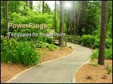 PowerPoint Template - beautiful walkway
