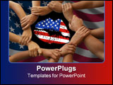PowerPoint Template - lip print stenciled flag