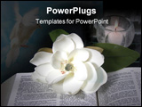 PowerPoint Template - Open Bible with candle