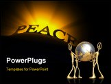 PowerPoint Template - A strong visible ray light behind a text read Peace