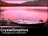 PowerPoint Template - Pink infused backdrop of lake.