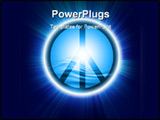 PowerPoint Template - Peace symbol on a light blue background