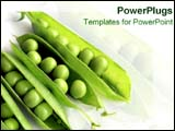 PowerPoint Template - A bunch of green peas in a pod.