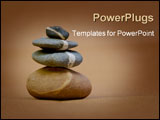 PowerPoint Template - stack of pebbles