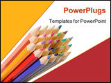 PowerPoint Template - colors in perspective over a white background