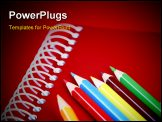 PowerPoint Template - Close-up picture of pencils and agenda .