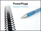 PowerPoint Template - close up of blue pen on notebook with shallow dof