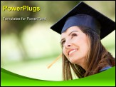 PowerPoint Template - Portrait of a female graduate looking up