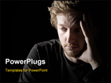 PowerPoint Template - Low Key Shot of a Depressed Red Headed Male
