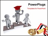 PowerPoint Template - People happy figures in action on white background