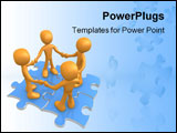 PowerPoint Template - Computer generated image - Perfect Teamwork