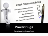 PowerPoint Template - Overall Performance Rating Form checked the Far exceed expectation