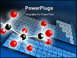 PowerPoint Template - Molecule structure and periodic table of elements. Digital illustration.