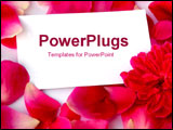 PowerPoint Template - Fallen petals with a blank card