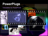 PowerPoint Template - camera in subdued light