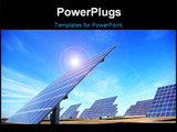 PowerPoint Template - Central of photovoltaic panels at south of Portugal.