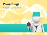 PowerPoint Template - 3d isolated characters on white background medicine series
