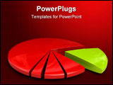 PowerPoint Template - pie chart banner over a white background
