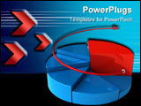 PowerPoint Template - pie chart concept with different elevations