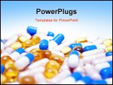 PowerPoint Template - closeup colorful pills isolated on white background